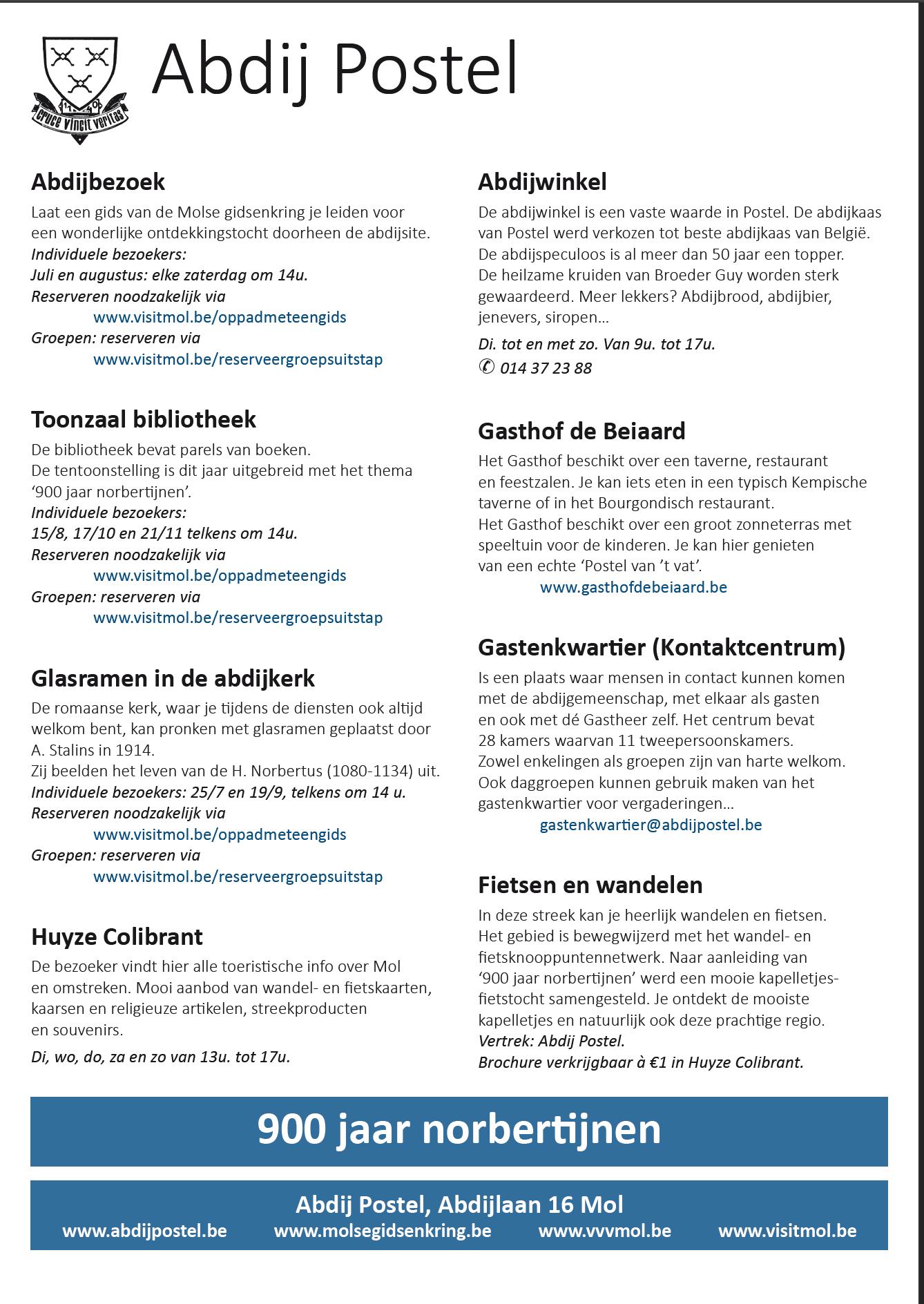 900 jaar Norbertijnen - flyer pagina 2